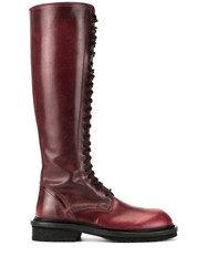 Ann Demeulemeester Lace Up Knee Length Boots 60