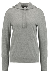Iris And Ink Lois Cashmere Hooded Top Gray