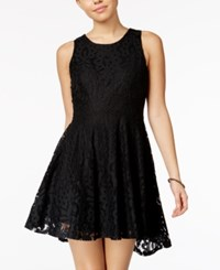 American Rag Lace High Low Fit And Flare Dress Only At Macy's Classic Black