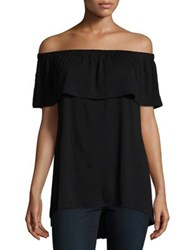 Vince Camuto Off The Shoulder Ruffled Tunic New Ivory