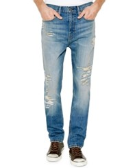 Levi's Men's 514 Straight Fit Ripped Jeans Toto Destructed