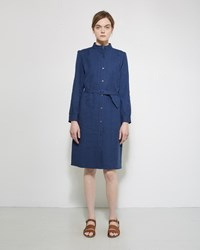A.P.C. Belted Shirt Dress Bleu Acier