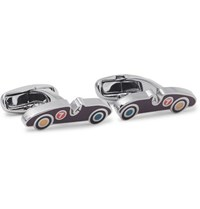 Paul Smith Sports Car Silver Tone And Enamel Cufflinks