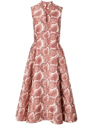 Adam By Adam Lippes Paisley Print Dress Red