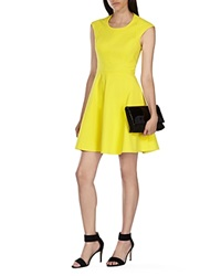 Karen Millen Full Skirt Dress Yellow