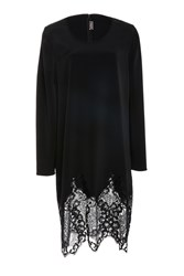 Alexis Mabille Long Sleeve Lace Detailed Dress Black