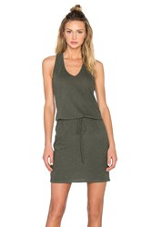 Lanston V Neck Racerback Dress Green
