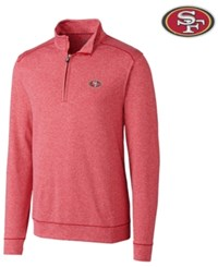 Cutter And Buck San Francisco 49Ers Shoreline Quarter Zip Pullover Red