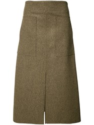 Josh Goot Pleated Skirt Brown