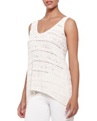 Donna Karan V Neck Macrame Top Women's