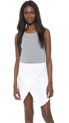 Ruken Jenna Tank Dress Grey White