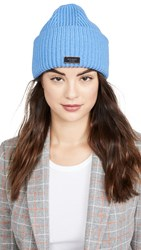 Kate Spade New York Label Beanie Stained Glass Blue