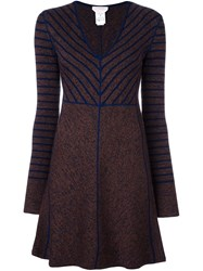 See By Chloe Striped Knitted Dress Multicolour