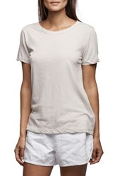 James Perse Women's Clean Graphic Tee Silver
