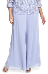 Plus Size Women's Alex Evenings Wide Leg Pants Lilac