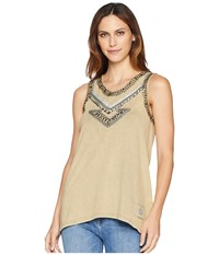 Double D Ranchwear Southern Nights Tank Top Platinum Sleeveless Beige