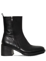 Ann Demeulemeester 75Mm Zipped Leather Boots Black