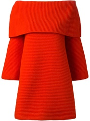 Gianluca Capannolo Off Shoulder Cocoon Top Red