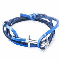 Anchor And Crew Royal Blue Admiral Leather Bracelet