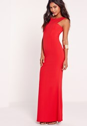 Missguided Low Back Maxi Dress Red Red