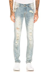 Stampd Distressed Skinny Jeans Light Indigo