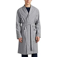 Hanro Loran Floral Cotton Twill Robe Gray