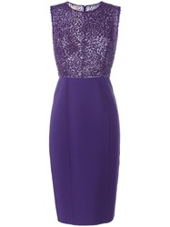 Michael Kors Sequinned Detail Dress Pink Purple