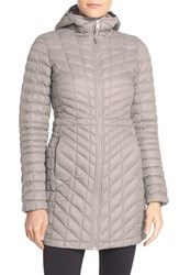 The North Face Women's 'Thermoball Tm ' Primaloft Hooded Parka Dove Grey