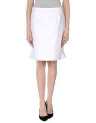 Marella Knee Length Skirts White