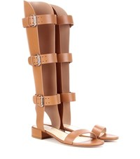 Francesco Russo Leather Gladiator Sandals Brown