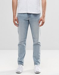 Weekday Sunday Tapered Jeans Drop Crotch Bench Blue Bench Blue 74 101