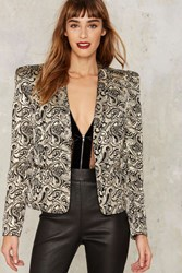 Nasty Gal Collection Constantine Jacquard Blazer Multi