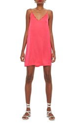 Topshop Scallop Mini Slipdress Pink