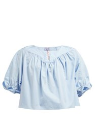 Thierry Colson Theda Cotton Poplin Shirt Blue