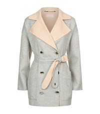 Escada Sport Reversible Wool Cashmere Belted Coat Female Multi