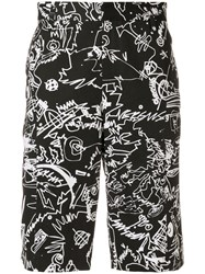 Versus Printed Deck Shorts Cotton Black