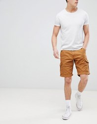 Esprit Relaxed Fit Cargo Shorts In Tan
