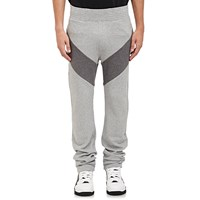 Givenchy Contrast Inset Fleece Sweatpants Gray