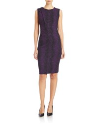 Anne Klein Asymmetrical Sleeveless Bodycon Dress Phoenix Purple Black