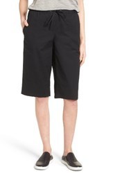 Eileen Fisher Women's Drawstring Stretch Organic Cotton Pants Black