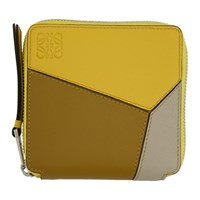 Loewe Yellow Puzzle Square Zip Wallet