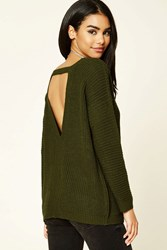 Forever 21 Purl Knit Cutout Sweater