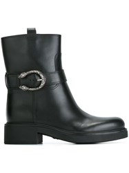 Gucci Buckled Ankle Boots Black