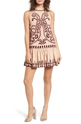 Kas New York Lauren Drop Waist Minidress Nude