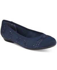 Karen Scott Ralleigh Ballet Flats Only At Macy's Women's Shoes Navy