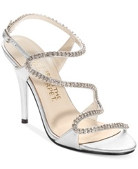 E Live From The Red Carpet Wallis Evening Sandals Women's Shoes Silver Vitello