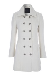 Jane Norman Fit And Flare Bow Back Coat Ivory