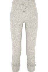 N.Peal Cashmere Track Pants Light Gray