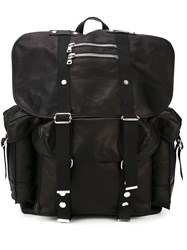 Balmain Multiple Pocket Backpack Black