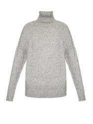 Nlst High Neck Ribbed Knit Sweater